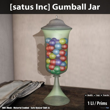 New Release: Gumball Jar By [satus Inc] | Teleport Hub - Second Life Freebies | Second Life Freebies | Scoop.it