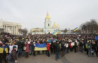 Ukraińcy znowu demonstrują w Kijowie - Newsweek Polska | Białoruś a UE | Scoop.it