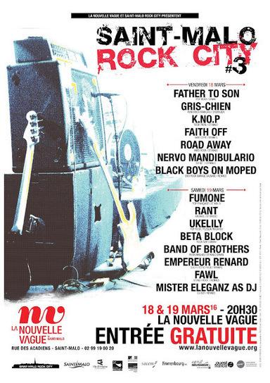 Rennes Ville-Rock: FESTIVAL SAINT-MALO ROCK CITY #3 / 18 & 19 mars 2016 | Zikarennes : scène musicale rennaise | Scoop.it