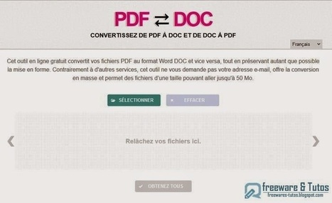 PDFDOC.com : un outil en ligne pour convertir de PDF à DOC et vice versa | Time to Learn | Scoop.it