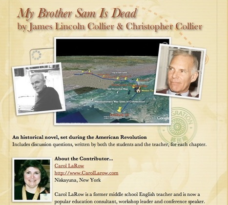 My Brother Sam Is Dead by James Lincoln Collier & Christopher Collier | Google Lit Trips: Reading About Reading | Scoop.it