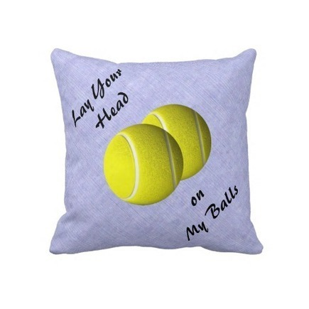 Funny Tennis Ball Sport Mojo Throw Pillow from Zazzle.com | Wall Art | Scoop.it