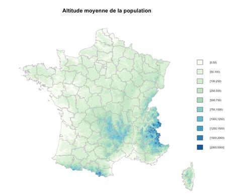 Altitude de la population française   datamix   GeoWeb OpenSource   Scoop.it