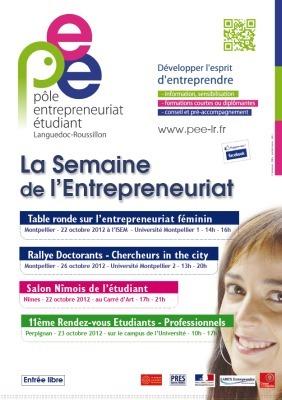 Le PEE-LR organise la Semaine de l'entrepreneuriat [22 au 26 ... | l'entreprenariat étudiant | Scoop.it