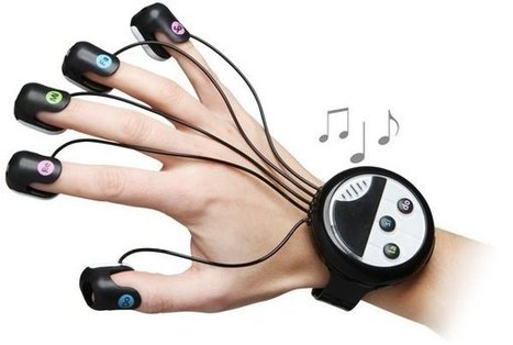 Japanese Wrist-Mounted Finger Piano is very portable   Classical Music and Internet   Scoop.it