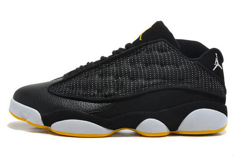 Brand New Jordan Shoes Nike Retro 13 (Low) In Black Naize White and Yellow | my love list | Scoop.it