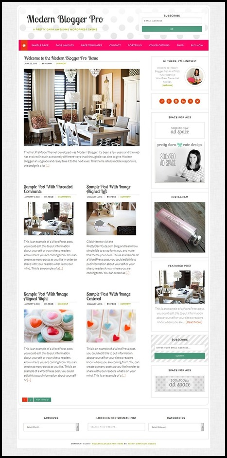 Genesis Modern Blogger Pro Theme Best Stylish Blogger Theme | Blogger themes | Scoop.it