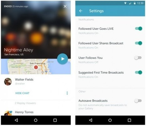 Periscope llega a Android | Educacion, ecologia y TIC | Scoop.it