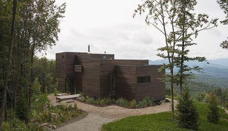 Du bois pour une maison contemporaine au cœur d'une végétation dense au Québec | Maison ossature bois écologique | Scoop.it