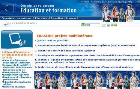 ERASMUS - Projets multilatéraux - Commission européenne | Echanges Langues Education | Scoop.it