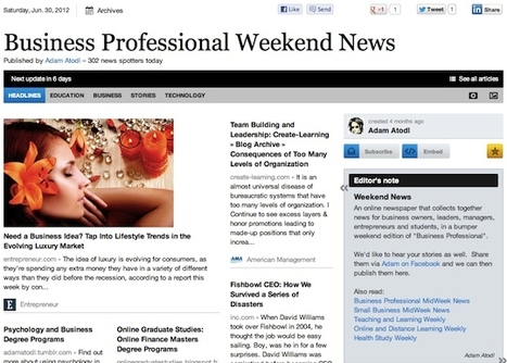"""June 30 - """"Business Professional Weekend News"""" is out 