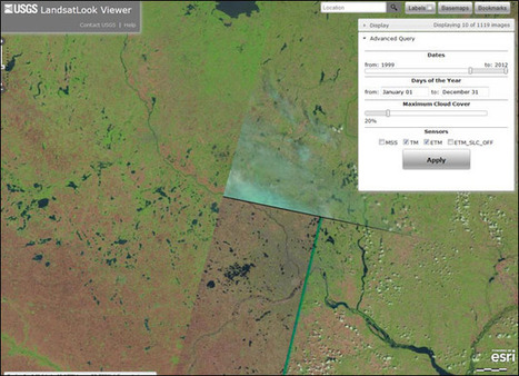 USGS LandsatLook Viewer | Cool Online Tools for Surveyors | Scoop.it
