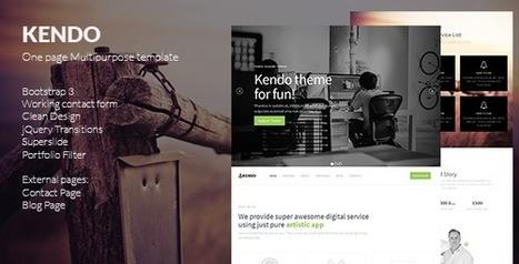Kendo – Creative Multipurpose Template (Creative) | Best HTML Themes | Scoop.it