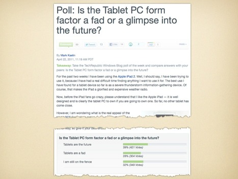 Tablets will replace PCs for many enterprise users | TechRepublic | Consumerization of IT | Scoop.it