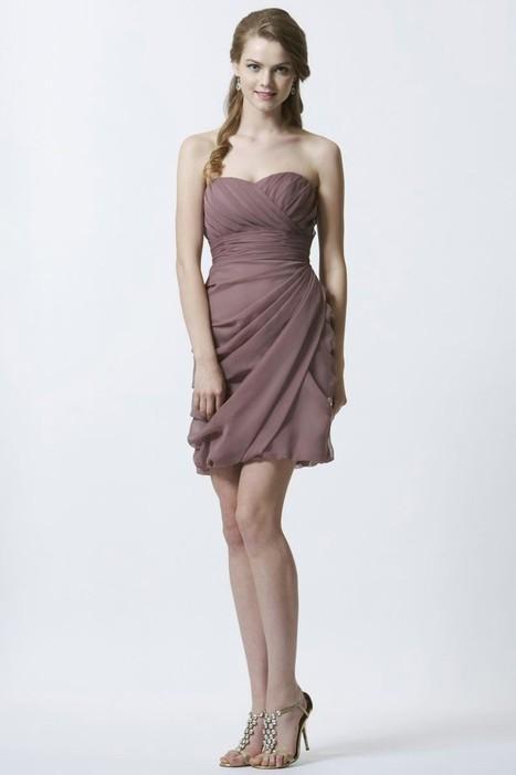 Sweetheart Short Chiffon Pleating Sheath Column Bridesmaid/Wedding Guest Dress P1ed0019   Alizee's Fashion World   Scoop.it