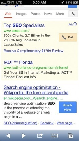 "Google Tests ""Quick View"" Button In Mobile Search Results 