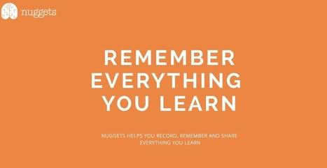 Nuggets. Souvenez-vous de ce que vous apprenez | Outils et  innovations pour mieux trouver, gérer et diffuser l'information | Scoop.it