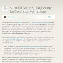 Vérification des certificats #SSL: #Mozilla lance une chasse aux bugs   #Security #InfoSec #CyberSecurity #Sécurité #CyberSécurité #CyberDefence & #DevOps #DevSecOps   Scoop.it