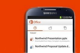 INFO : Office arrive sur les smartphones Android | DS Technological Innovation News Flash N°37 | Scoop.it