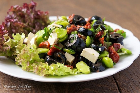 Fava Bean Salad with Black Olives, Sun-dried Tomatoes and Soy Chesese | Annie Haven | Haven Brand | Scoop.it