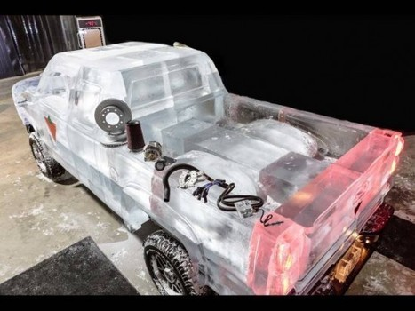Functional Truck Made of Ice Blocks Is the Coolest Car Ever | Strange days indeed... | Scoop.it