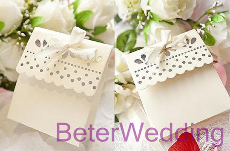12pcs TH003 silver beaded Scalloped Candy Box 派对糖果盒 | Wedding Favor Boxes | Scoop.it