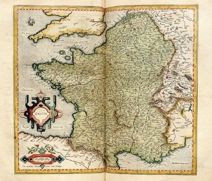 Geographia, The Art of Maps: #Map of Gallia (1595) from... | Human Geography | Scoop.it