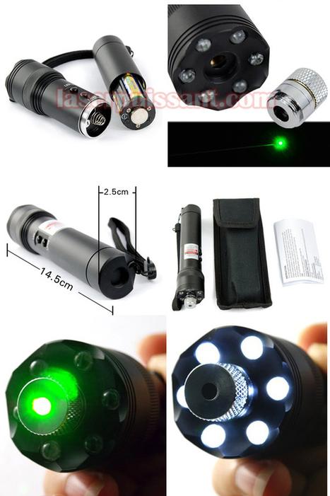low-Preis 100mW Grün Ultra Stark Laserpointer Mit Taschenlampe | notebookakkus | Scoop.it