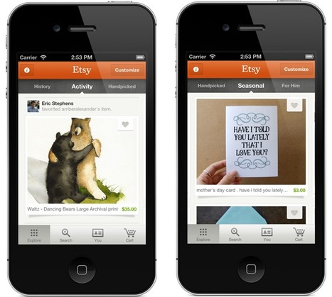 Etsy For iPhone Updated With New Activity Feed, Treasury Search, Etc. | Winning The Internet | Scoop.it