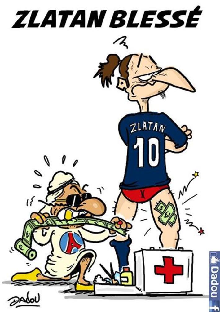 Zlatan bléssé | Baie d'humour | Scoop.it