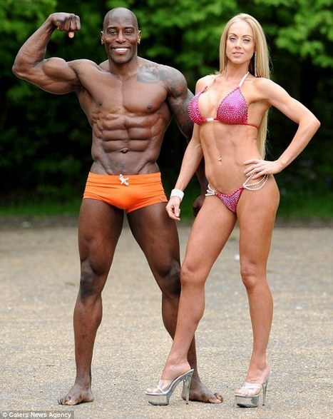 Mr and Mrs Muscle! Engaged bodybuilders become first couple to BOTH win world championship honours at same event | shopping news | Scoop.it