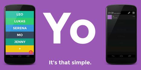 Mobile: L'app étonnante qui ne sert qu'à dire «Yo» | Informatique Romande | Scoop.it
