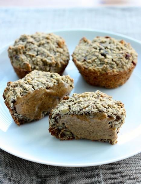 Banana Oat Muffins (gluten free, higher protein option) | My Vegan recipes | Scoop.it