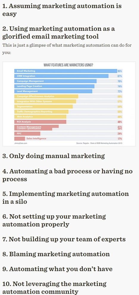 Avoid these 10 Marketing Automation Rookie Mistakes - Oracle | marketing automation | Scoop.it