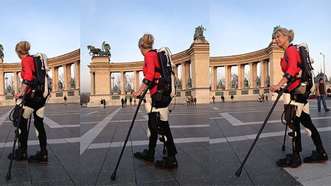 "Wheelchair-Bound Woman Walks Again With a 3D Printed Exoskeleton | L'impresa ""mobile"" 