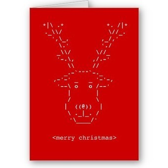 Merry Christmas Geek Reindeer ASCII Art card at Zazzle.ca | ASCII Art | Scoop.it