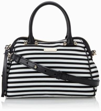 Review Tas Branded Wanita Terbaru: Tas Kate Spade Charles Street Mini Audrey_stripe black white | Tas Wanita Cantik | Scoop.it