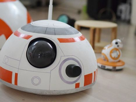 Kid Builds BB-8 Robot Out of Beach Ball, Deodorant Rollers, Speaker Magnets | Maker Stuff | Scoop.it