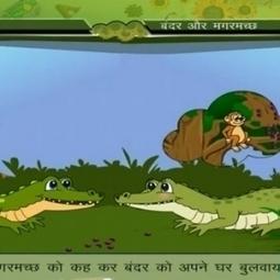 Panchatantra Tales in Hindi - Bandar Aur Magarmach | Educational Videos & Games for Kids | Scoop.it