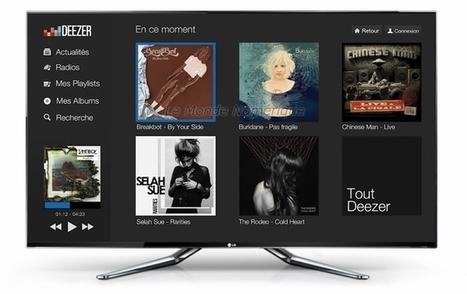 Deezer s'invite sur les TV connectées LG, Toshiba et Samsung application deezer tv connectée   We are numerique [W.A.N]   Scoop.it
