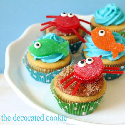 Cupcakes Take The Cake: Summer cuteness alert: gumdrop crab and fish candy cupcake toppers | CupCake Blog | Scoop.it