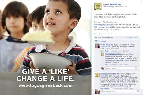 NRN Social 200: Togo's tops ranking with cause marketing | The Social Media 200 content from Nation's Restaurant News | People Profits Planet | Scoop.it