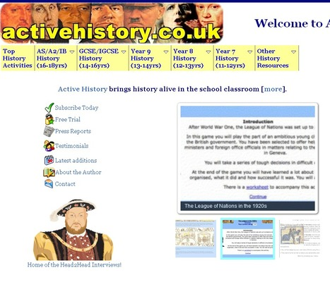 ActiveHistory: Games, Quizzes, Worksheets and Lesson Plans for Teachers and Students of History | Teaching Foreign Languages | Scoop.it