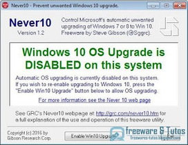 Never 10 : un logiciel portable pour bloquer la mise à jour vers Windows 10 | Informatique TPE | Scoop.it