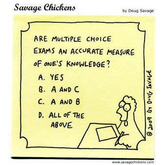 Multiple Choice Cartoon | Savage Chickens - Cartoons on Sticky Notes by Doug Savage | Emerging Technologies in Vocational Education and Industry Training | Scoop.it