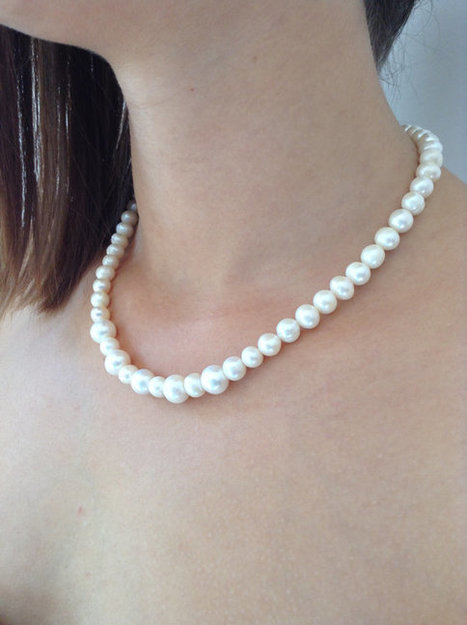 water pearl necklace, glass pearl, Bridesmaid Necklace, Bridesmaid Jewelry, Wedding Jewelry,bridesmaid gift | wedding | Scoop.it