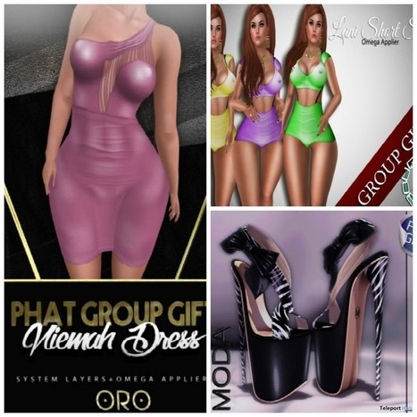 Dress, Swimsuit, and Shoes Phat Fair July 2016 Group Gifts | Teleport Hub - Second Life Freebies | Second Life Freebies | Scoop.it