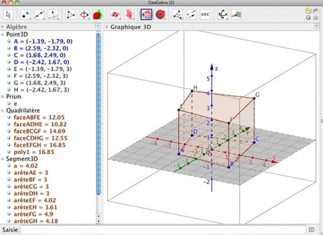 Prise en main de GeoGebra 3D | formation 2.0 | Scoop.it