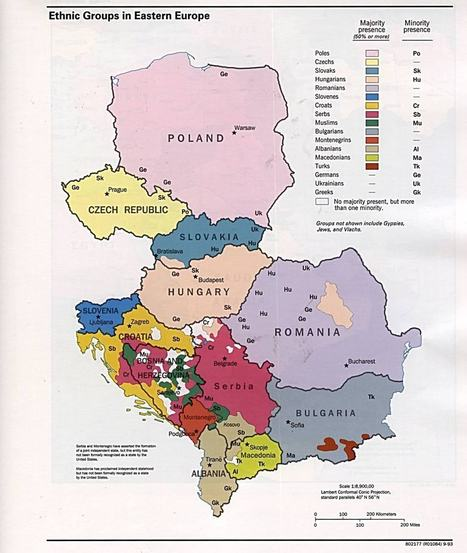 Ethnic groups in Eastern Europe 1993 - Full size | Thinking Geographically | Scoop.it