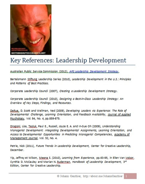 Leadership Development: Key References | Leadership and Change | Scoop.it